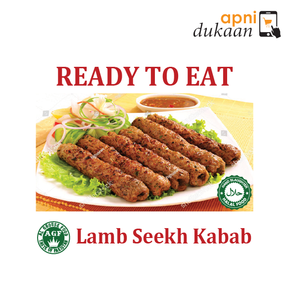 AGF Lamb Seekh Kabab 1 Pack - Ready To Eat