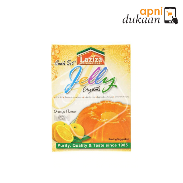 Laziza Jelly Crystals - Orange 85g - Apni Dukaan