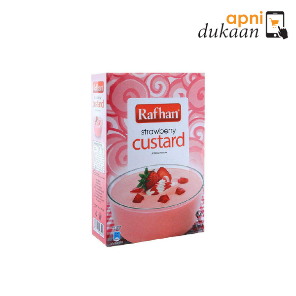 Rafhan Custard Powder - Strawberry 285g - Apni Dukaan