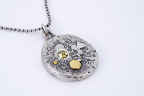 La Luna Pendant with Yellow Diamond