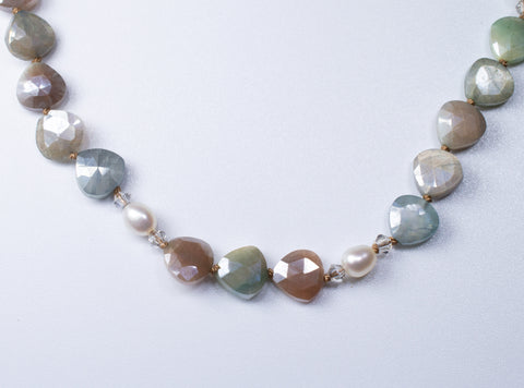 Coated Moonstone in Subtle Tones