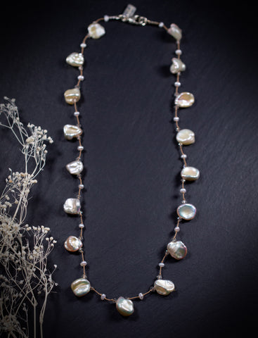 Classic Sparkling Pearl Necklace