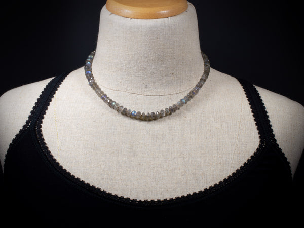 Labradorite Candy Necklace 17 & 1/2 inches
