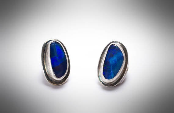 Australian Opal Stud Earrings