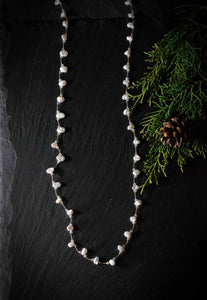 Organic Shaped Pearl Necklace
