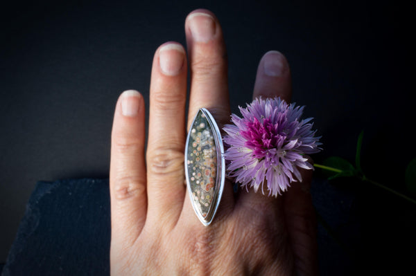 Gemmy Ocean Jasper Statement Ring