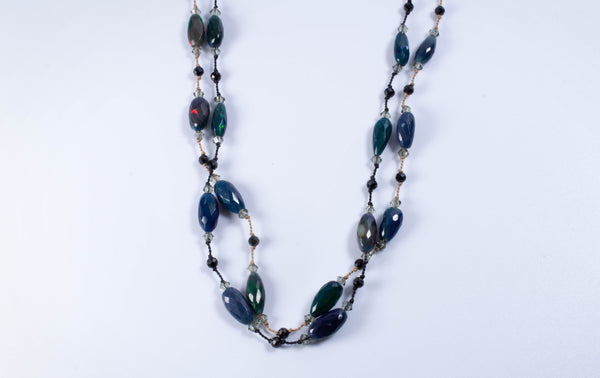 Ethiopian Black Opal Nugget Necklace