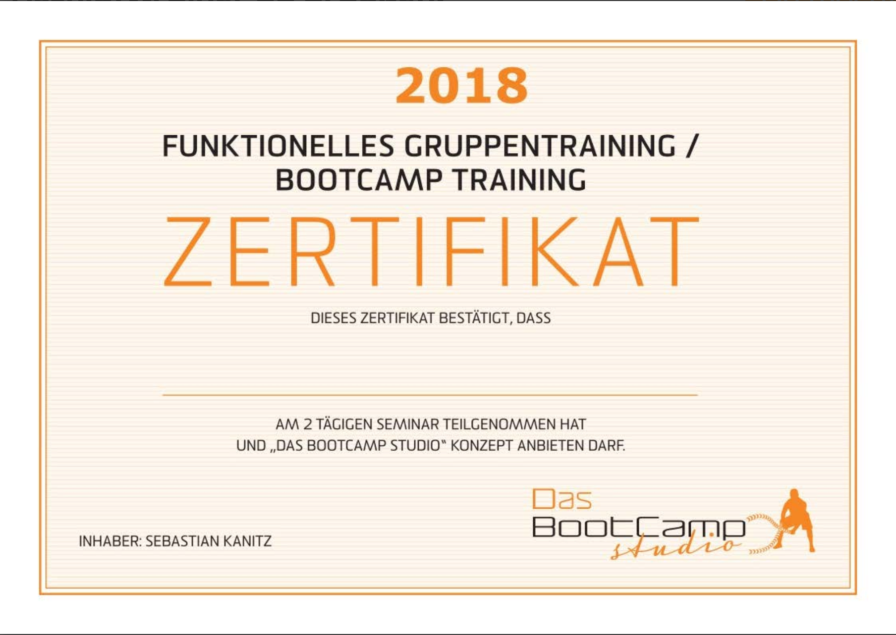 BootCamp Functional Outdoor Trainer Ausbildung