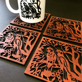 Carnaby Cockatoos Coaster Set