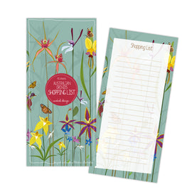 Australian Orchid Shopping Notepad