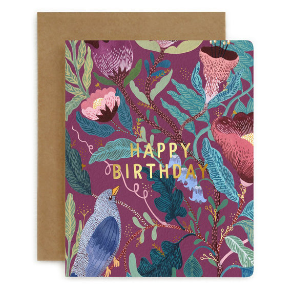 Blomstra Happy Birthday Card