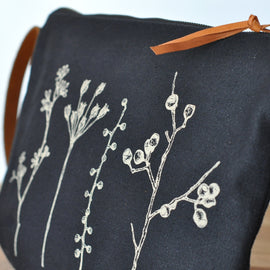 Botanica Black Shoulder Bag