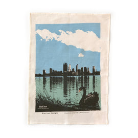 Swan and River Tea Towel