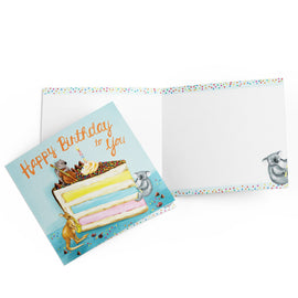 Musical Birthday Critters Card