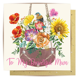 Hanging Pot Plant Mum Vol.2 Card