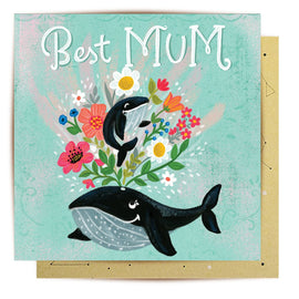 Best Whale Mum Card