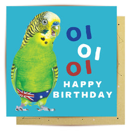 Birthday Budgie Card