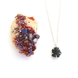 Black Tourmaline Raw Necklace