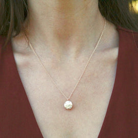 White Pearl Raw Necklace
