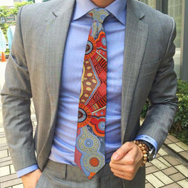 Kangaroo Story Orange Tie