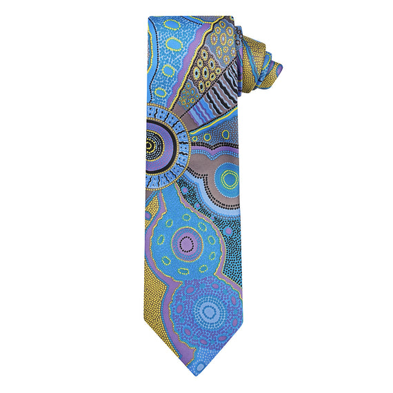 Kangaroo Story Blue/Yellow Tie