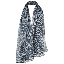 Bush Grasses Black and White Scarf