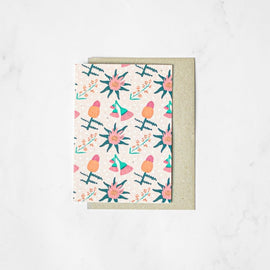 Floral Pattern Plantable Card