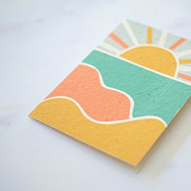 Sunset Plantable Card