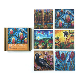 Birds and Botany Coaster Set
