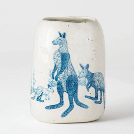 Blue Roos Pebble Vase