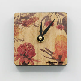 Coloured Wildflowers Mini Desk Clock