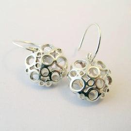 Large Flower Drop Earrings