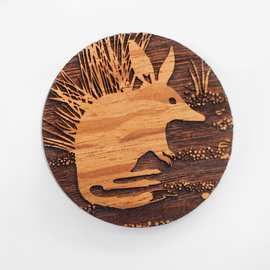 Engraved Sheoak Brooch