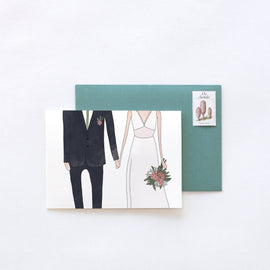 Wedding Man and Woman Card