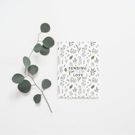 Sending Love Botanic Pattern Card