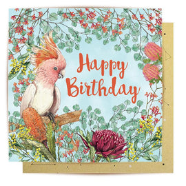 Australian Botanicals Birthday Card