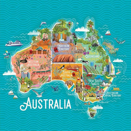 Map of Australia Card