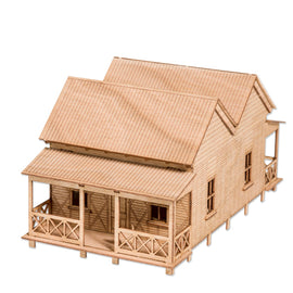 Double Gable Cottage Model Kit