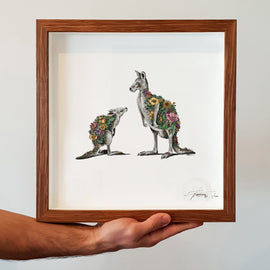 Kangaroo and Joey Print