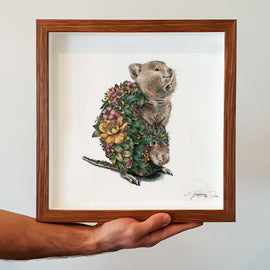 Quokka and Joey Print