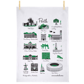 Iconic Perth Tea Towel
