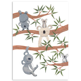Koalas Playing in the Trees Card