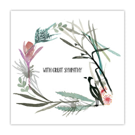 Native Wreath Sympathy Card