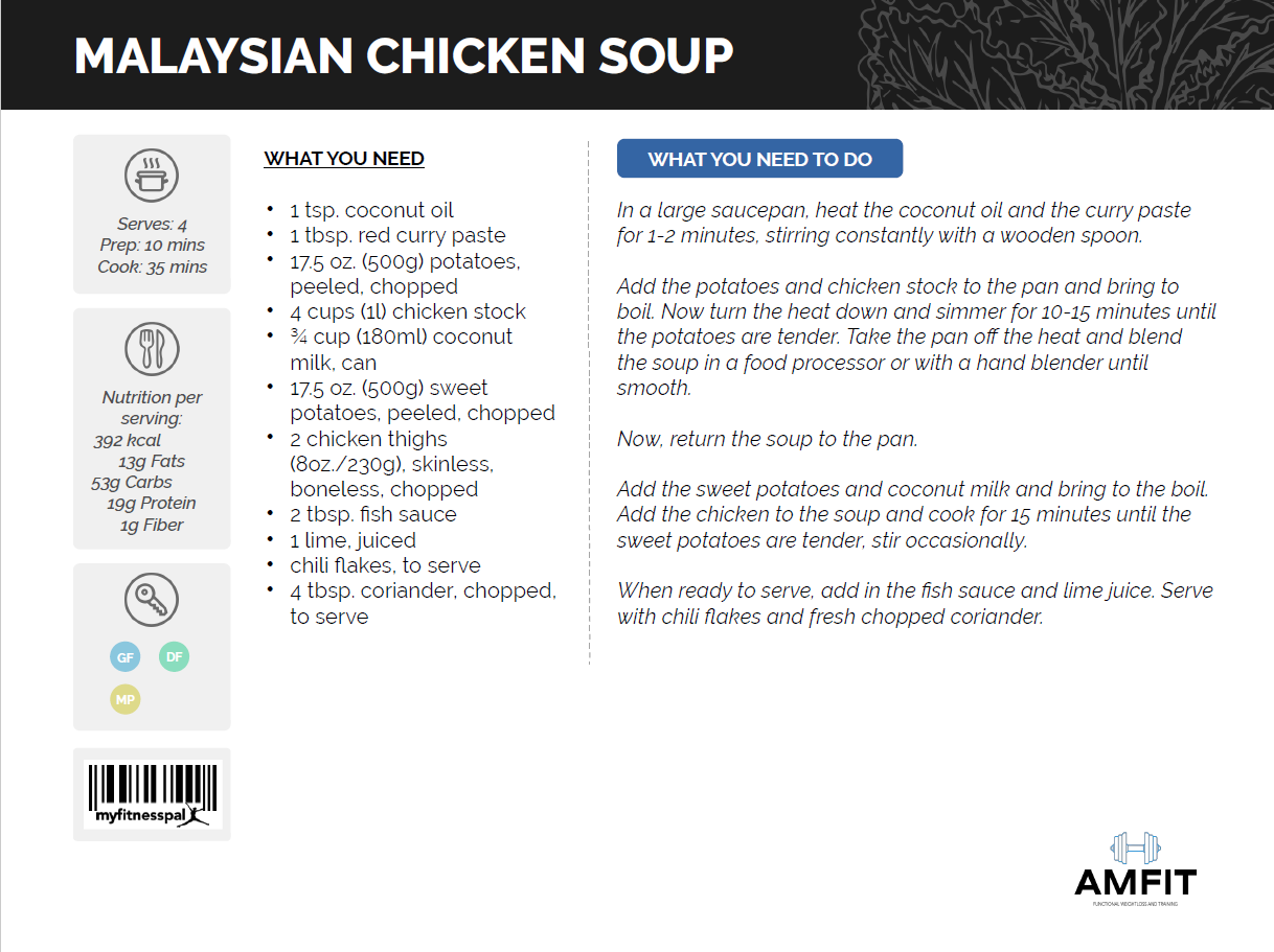 malaysian chicken soup recipe