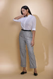 Handwoven Striped Cotton Straight Pants