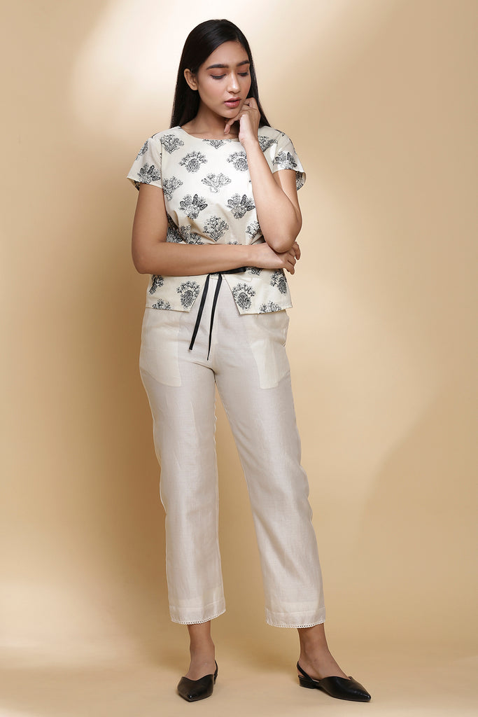 STRAIGHT PANT WITH BOTTOM KINRI LACE