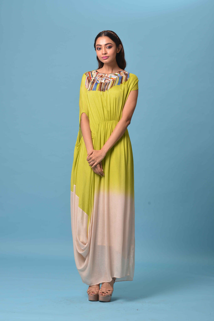 Ombre Shaded Full Length Dress