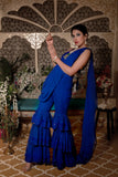 CLASIC BLUE SHARARA SET