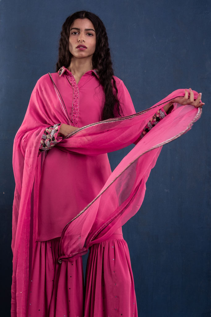 Rose Sharara Set
