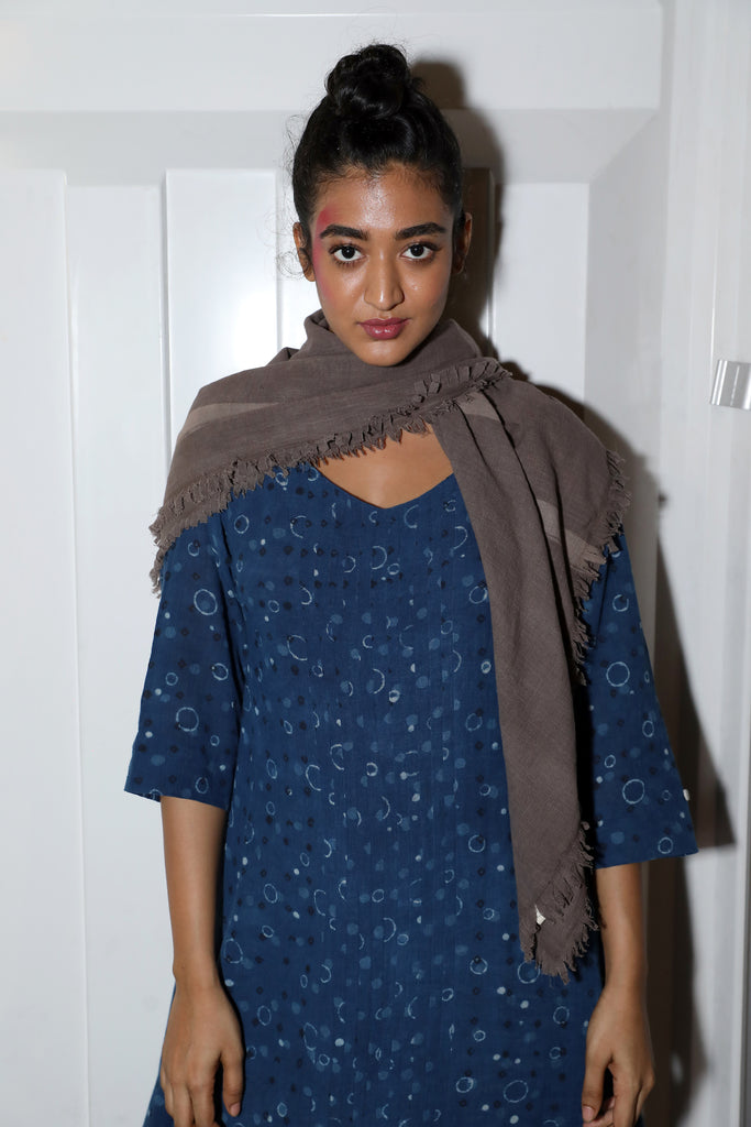 kashish scarf muddy pants dotted dress